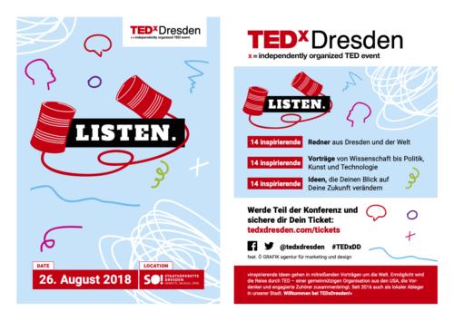TEDxDresden 2018 flyer