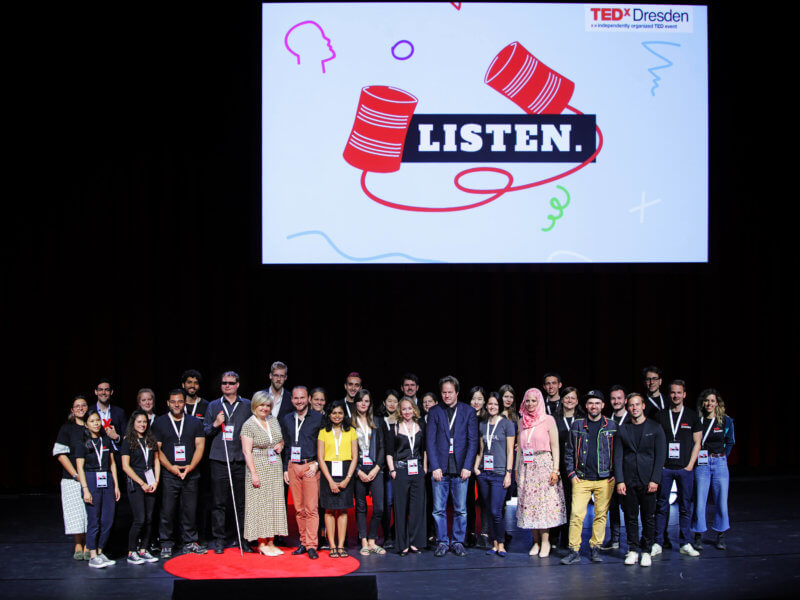 Group picture of TEDxDresden 2018